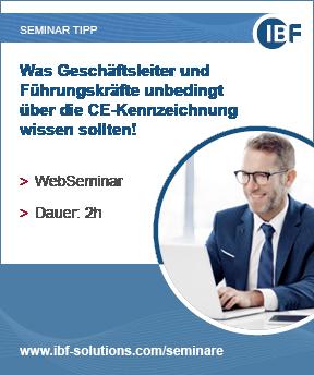 Seminar CE-Kennzeichnung für Geschäftsleiter und Führungskräfte